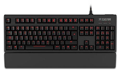 fnatic gear ergnomische tastatur switch red