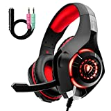Gaming Headset für PS4 PS5 PC Xbox One, LED Licht Crystal...