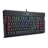 EagleTec KG010 RGB Beleuchtete Mechanische Gaming Tastatur Leise...