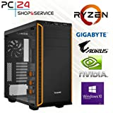 PC24 GAMER PC | AMD Ryzen 7 2700X @8x4,00GHz | 500GB M.2 970 EVO...