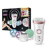 Braun Silk-épil 9 9/990 SkinSpa SensoSmart Epilierer, für Damen...