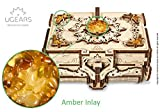 UGEARS 3D Wooden Puzzle Box - 3D Puzzle Amber Wooden Box Wooden...