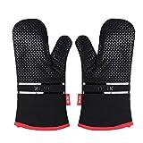 Deik Ofenhandschuhe, Hitzebeständige Topflappen Handschuh, Lange...