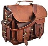 Ledertaschen Vintage Soft Leder Messenger braun Laptoptasche...