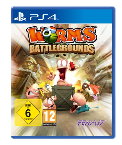 ps 4 worms battleground games  usk 6