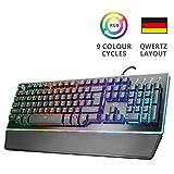 Trust GXT Halbmechanische LED Gaming Tastatur (Deutsches QWERTZ...