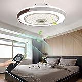 LED Deckenventilator Mit Lampe Moderne Invisible Fan...