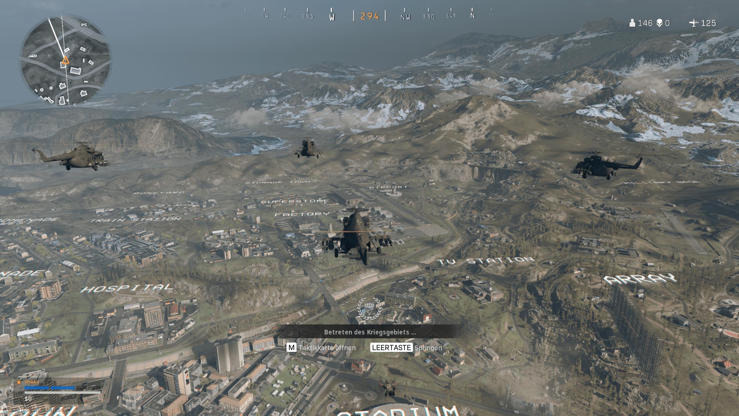 warzone fallschirm absprung